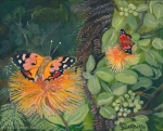 Kamehameha Butterflies with Orange Ohia