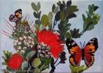 Kamehameha Butterflies with Red Ohia