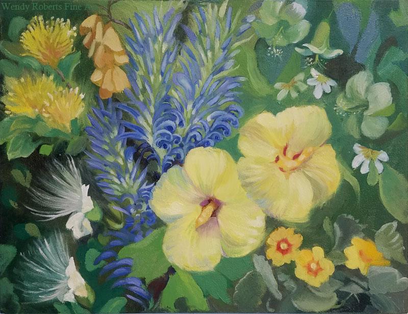 Yellow Hawaiian Floral