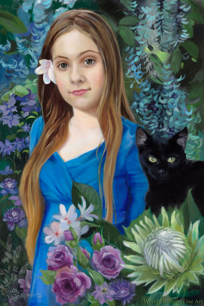 Elysia-and-Galaxy-in-the-Garden-by-Wendy-Roberts