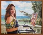 Kelley Painting on the Lanai