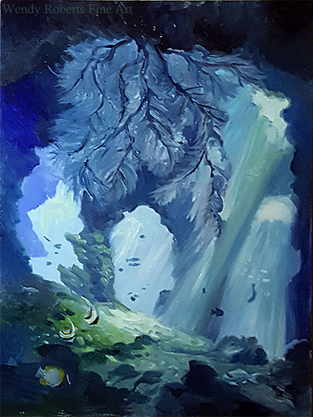 Black Coral Cave by Wendy Roberts