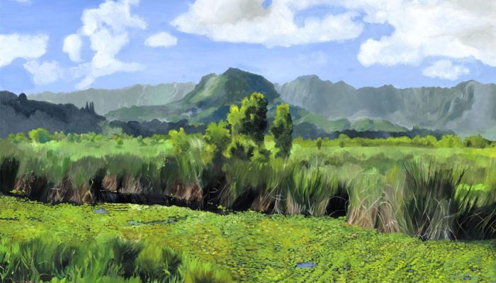 Bright Morning at Kawainui (Left Panel)
