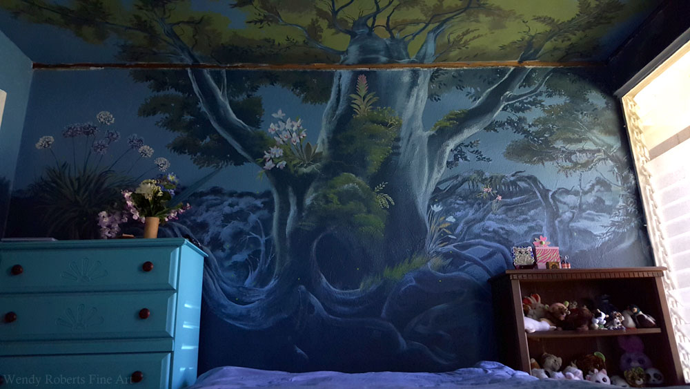 Project Enchanted Forest Mural Wendy Roberts Fine Art