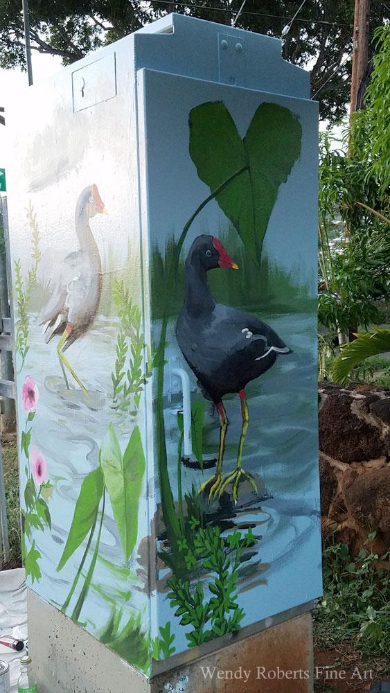 Kaimuki Waialae Mud Hen Traffic Box by Wendy Roberts