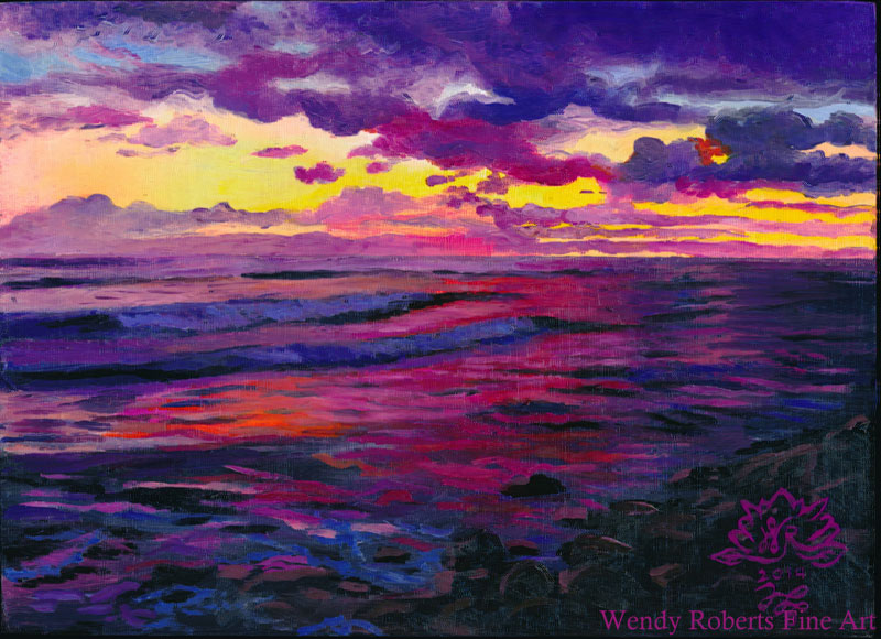 Seashore Dusk by Wendy Roberts