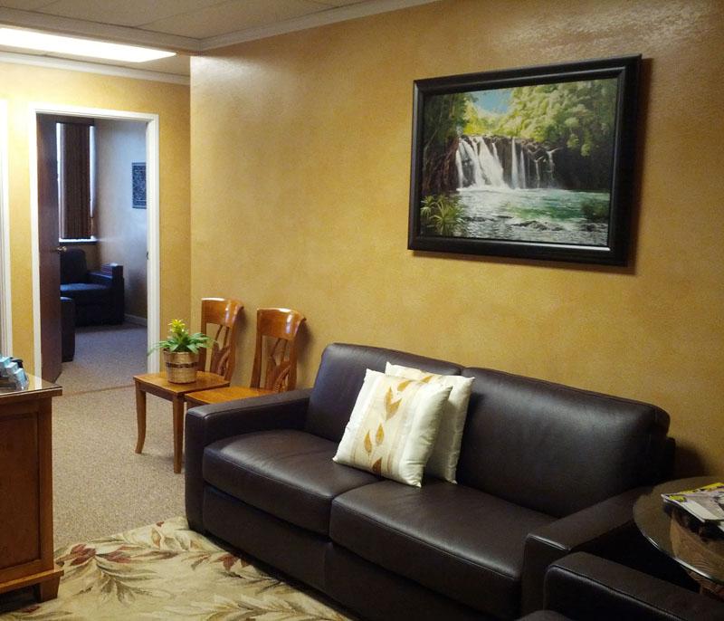 Kipu Falls in a Waiting Room