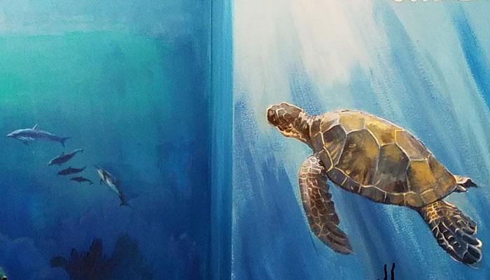 Big Wave Dave Mural (detail)