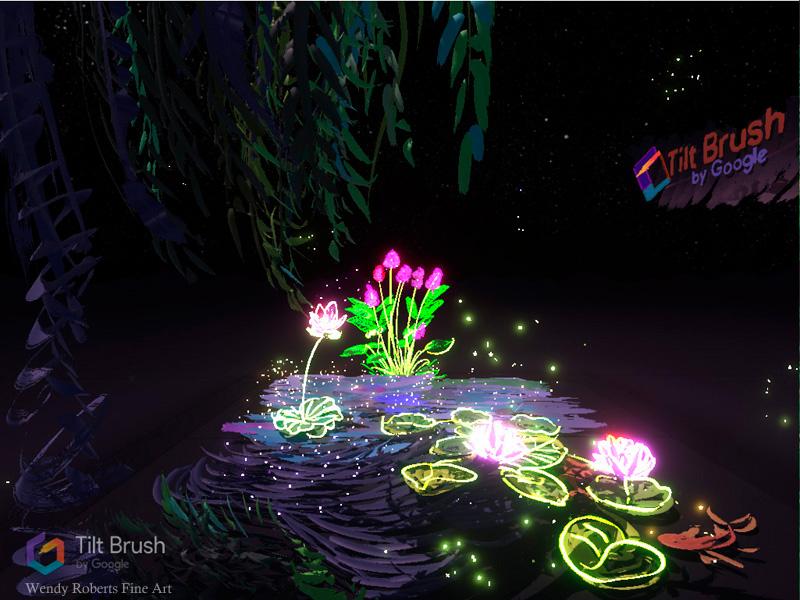 Cosmic Lotus Pond