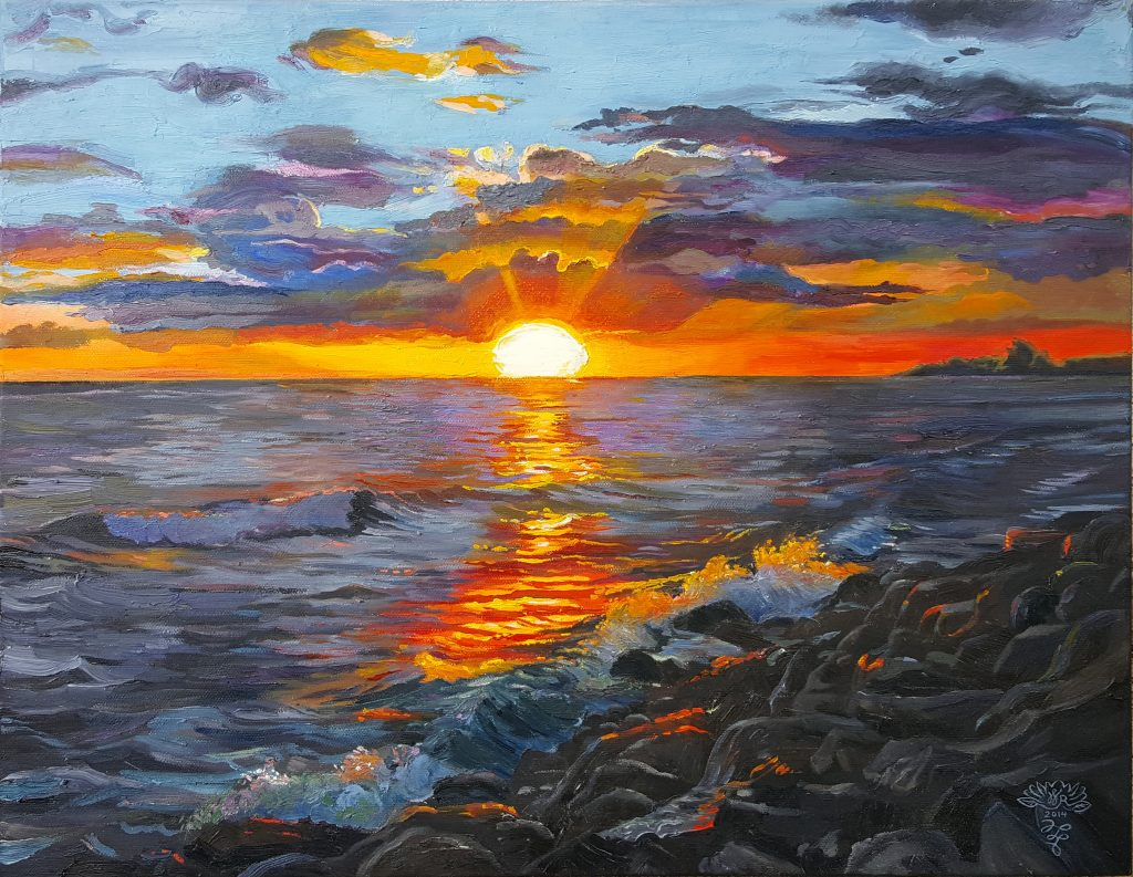 Fiery Sunset by Wendy Roberts