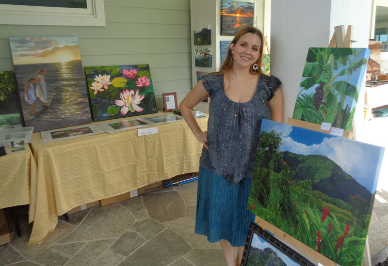 Wendy Roberts at Oahu Open Studios 2015