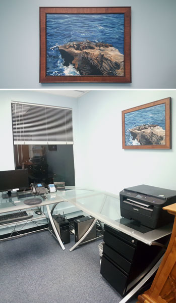 """Sea Lions"" in an office"